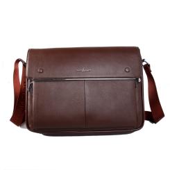 Мужская кожаная сумка через плечо для документов с одним отделением от Dor. Flinger, арт. 81350 028 licht kaffee DF