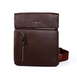 Мужская сумка планшет коричневого цвета из натуральной кожи от Dor. Flinger, арт. 0167 028 licht kaffee DF