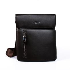 Мужская коричневая сумка планшет из высококачественной натуральной кожи от Dor. Flinger, арт. 0167 029 dunkel kaffee DF