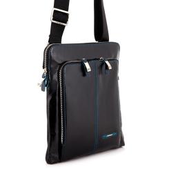 Стильная мужская сумка планшет из натуральной кожи черного цвета от Dor. Flinger, арт. 214 026 black DF