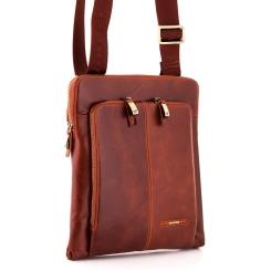 Стильная сумка планшет для мужчин из натуральной кожи светло-коричневого цвета от Dor. Flinger, арт. 214 625A brown DF