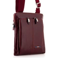 Стильная мужская сумка планшет из натуральной кожи красно-коричневого цвета от Dor. Flinger, арт. 214 629 rosso DF