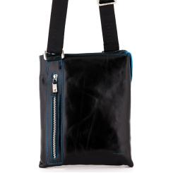 Классическая кожаная сумка планшет для мужчин, выполнена в черном цвете от Dor. Flinger, арт. 3475 026 black DF