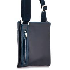 Мужская сумка планшет из натуральной кожи темно-синего цвета от Dor. Flinger, арт. 3475 624 blue DF