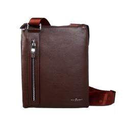 Сумка планшет для мужчин, выполнена из натуральной кожи коричневого цвета от Dor. Flinger, арт. 34750 028 licht kaffee DF
