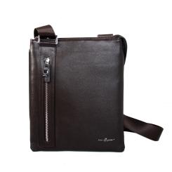 Немецкая мужская сумка планшет из натуральной кожи коричневого цвета от Dor. Flinger, арт. 34750 029 dunkel kaffeeDF