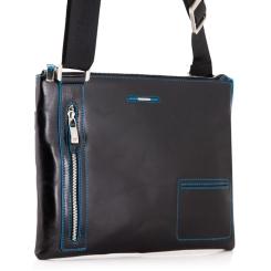 Модная мужская сумка через плечо для документов из натуральной кожи от Dor. Flinger, арт. 3482 026 black DF