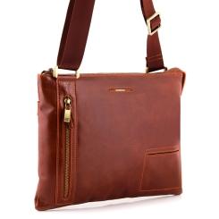 Модная мужская сумка через плечо для документов из натуральной кожи от Dor. Flinger, арт. 3482 625A brown DF