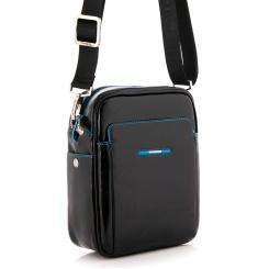 Маленькая мужская сумка через плечо из натуральной кожи черного цвета от Dor. Flinger, арт. 0082 26 black DF