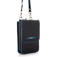 Необычная маленькая мужская сумка черного цвета с молнией по периметру от Dor. Flinger, арт. 0140 026 black DF