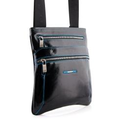 Мужская сумка планшет из натуральной кожи с тремя внешними карманами от Dor. Flinger, арт. 0619 26 black DF