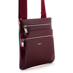 Сумка планшет бордового цвета с неотстегиваемым текстильным ремнем от Dor. Flinger, арт. 0619 629 rosso DF