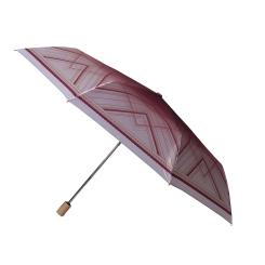 Женский бордово-серый зонт автомат, модель с облегченной конструкцией от Fabretti, арт. L-16107-22