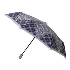 Большой синий зонт с узором на водонепроницаемом куполе от Fabretti, арт. S-16100-1