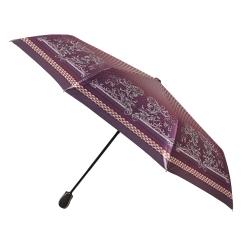 Большой автоматический зонт бордового цвета с рисунком, женская модель от Fabretti, арт. S-16103-7