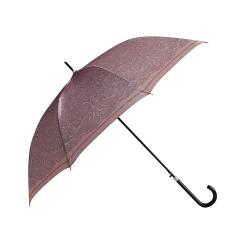 Элегантный светло-коричневый зонт-трость с узором на куполе от Fabretti, арт. 1601
