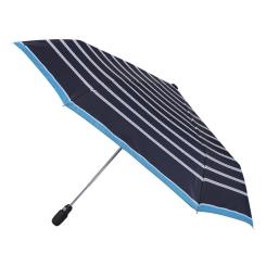 Маленький женский зонт синего цвета с параллельными серыми линиями от Fabretti, арт. T-16100