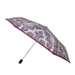 Зонт женский с нежным рисунком и розовой окантовкой на куполе от Fabretti, арт. T-16109