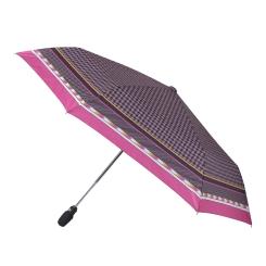 Зонт женский с лаконичным геометрическим принтом на небольшом куполе от Fabretti, арт. T-16110