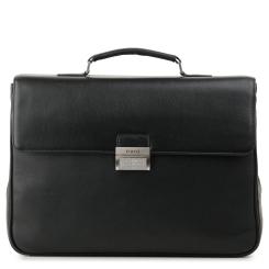 Мужской кожаный портфель с двумя отделениями и съемным плечевым ремнем от Fiato, арт. м13649
