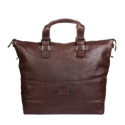 Большая мужская дорожная сумка из натуральной кожи коричневого цвета от Gianni Conti, арт. 1132074 dark brown