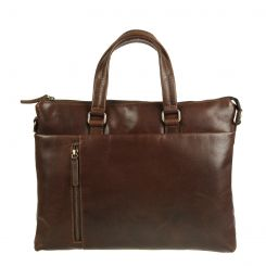 Стильная деловая мужская коричневая сумка из натуральной кожи от Gianni Conti, арт. 1221263 dark brown