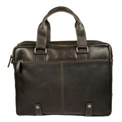 Большая деловая сумка для ноутбука из натуральной кожи от Gianni Conti, арт. 1221265 black