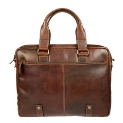 Большая мужская сумка с двумя отделами от Gianni Conti, арт. 1221265 dark brown