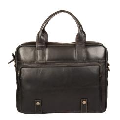 Стильная сумка из натуральной кожи для небольшого ноутбука от Gianni Conti, арт. 1221266 black