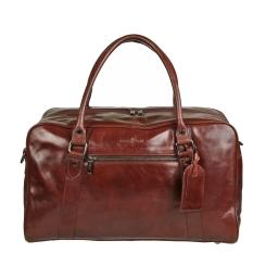 Дорожная мужская сумка темно-коричневого цвета из натуральной кожи от Gianni Conti, арт. 702084 dark brown