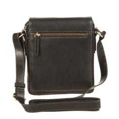 Маленькая мужская сумка планшет из черной натуральной кожи от Gianni Conti, арт. 1222343 black