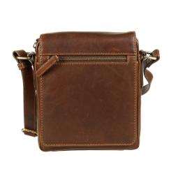 Мужская сумка планшет из натуральной кожи с длинным плечевым ремнем от Gianni Conti, арт. 1222343 dark brown