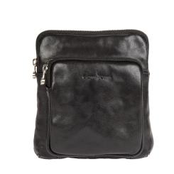 Молодежная итальянская мужская сумка через плечо из натуральной кожи от Gianni Conti, арт. 912302 black