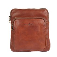 Стильная молодежная мужская сумка через плечо из натуральной кожи от Gianni Conti, арт. 912302 tan