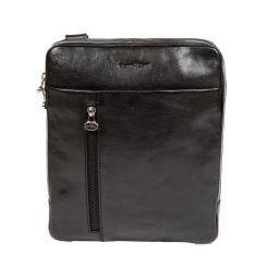 Стильная сумка планшет из натуральной кожи черного цвета от Gianni Conti, арт. 912303 black
