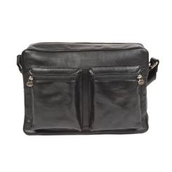Классическая сумка через плечо из натуральной кожи на молнии от Gianni Conti, арт. 912304 black