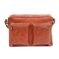 Мужская сумка через плечо из натуральной светло коричневой кожи от Gianni Conti, арт. 912304 tan