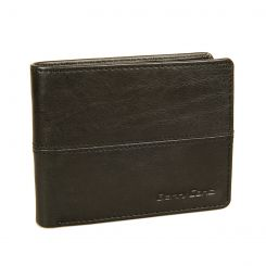 Горизонтальное мужское портмоне из натуральной кожи черного цвета от Gianni Conti, арт. 1137100E black