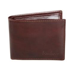 Портмоне мужское горизонтальное кожаное коричневого цвета от Gianni Conti, арт. 907018 brown