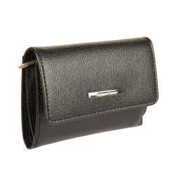 Женский складной кошелек черного цвета, натуральная плотная кожа от Gianni Conti, арт. 1248261 black