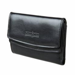 Складной женский кошелек из натуральной кожи черного цвета от Gianni Conti, арт. 908819 black