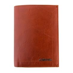 Зажим для денег коньячного цвета из натуральной кожи с мягкой фактурой от Giorgio Ferretti, арт. 0099-D3 brown GF