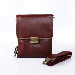 Коричневая маленькая мужская сумка из натуральной кожи коньячного цвета от Giorgio Ferretti, арт. 3277 018 bruno-rossastro GF