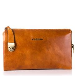 Эргономичный кожаный клатч с несколькими отделениями и разными карманами от Giorgio Ferretti, арт. 3288 025 bruno-rossastro GF