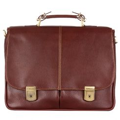 Коричневый мужской портфель для документов и бумаг из высококачественной кожи от Giorgio Ferretti, арт. 030 018 bruno-rossastro G
