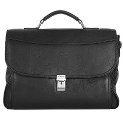 Вместительный мужской портфель для документов и небольшого ноутбука от Giorgio Ferretti, арт. 037 008 nero GF