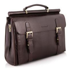 Мужской кожаный портфель темно-коричневого цвета в ретро стиле от Giorgio Ferretti, арт. 138 010 rosolare GF