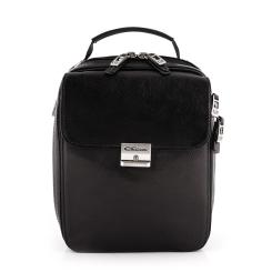 Вместительная черная сумка из кожи растительного дубления от Giorgio Ferretti, арт. 040 012 nero GF