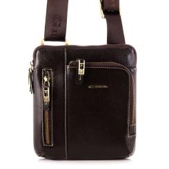 Кожаная мужская сумка планшет с несколькими карманами на молниях от Giorgio Ferretti, арт. 3481 019 rosolare GF
