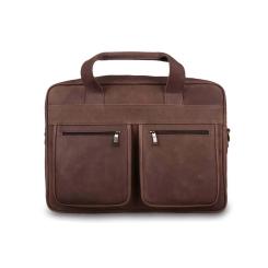 Деловая мужская кожаная сумка светло коричневого цвета для ноутбука от Jack's Square, арт. Oakland Sepia